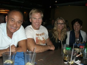 Sharing a brew with Dr. Paul Cribb (founder of Metabolic Precision), his wife Shar, and Dr. Susan Kleiner.